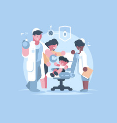 Children medical vaccination vector