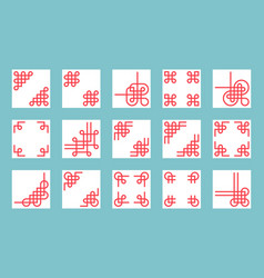 Chinese knots vector