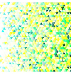 Colorful triangles geometric pattern vector image