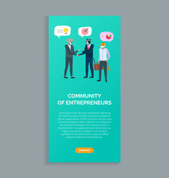 community entrepreneurs animals in business vector image