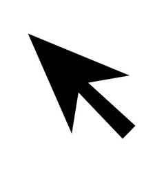 cursor arrow silhouette on a white background vector image
