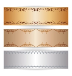 Decorative banner with graphic ornaments vector