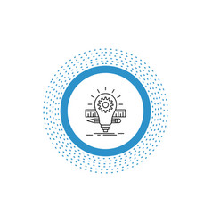 development idea bulb pencil scale line icon vector image