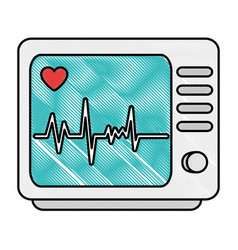 Electrocardiograph machine isolated icon vector