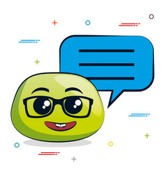 emoji message notification vector image