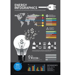 energy info graphic vector image