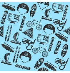 Extreme sports pattern vector