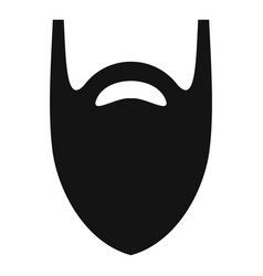 fashion beard icon simple style vector image