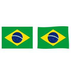 flag of brazil simple and slightly waving version vector image