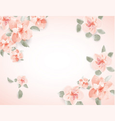 floral spring for wedding greeting text vector image