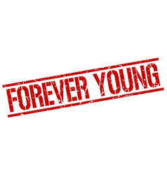 Forever young stamp vector