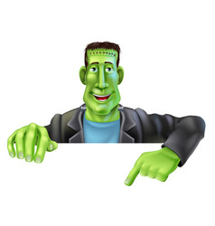 frankenstein witch pointing down vector image