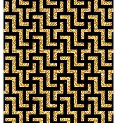 Golden oriental swastika pattern vector