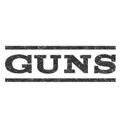 Guns watermark stamp vector