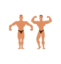 Gym fitness bodybuilder man vector image