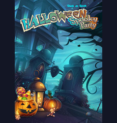 halloween spooky party vector image