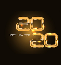 happy new year 2020 gold number luxury vector image
