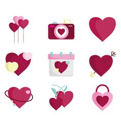 Happy valentines day love heart romantic feeling vector