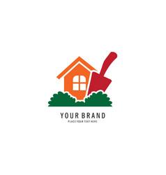 home gardening logo vector image