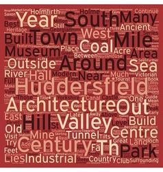 Huddersfield A Concise Tourist Guide text vector