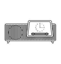 isolated retro radio icon vector image