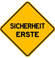 Isolated single sicherheit erste sign vector