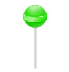 Lollipop green candy vector