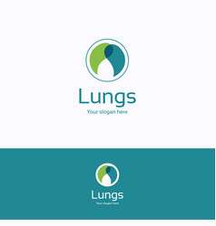 lungs logo vector image