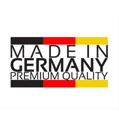 Made in germany premium quality sticker vector