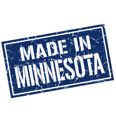 made in minnesota stamp vector image