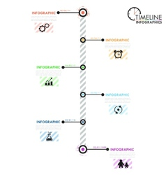 Minimal infographic timeline vector