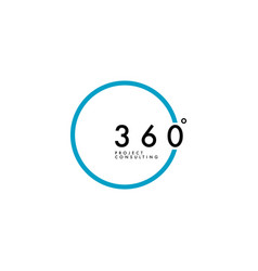 minimalist 360 degree logo design vector image