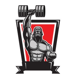 Muscular Body Builder vector