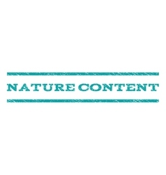 Nature Content Watermark Stamp vector image