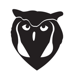 owl face silhouette vector image