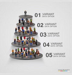people on a pedestal in hierarchy vector image