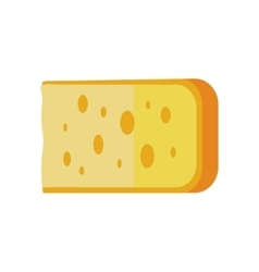 Piece of Cheese Isolated vector image