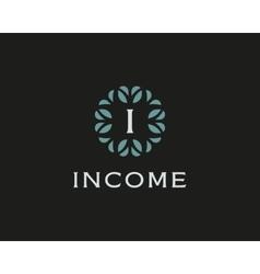 Premium monogram letter I initials logo Universal vector