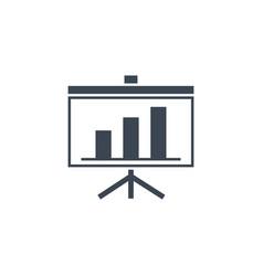 presentation bilboard related glyph icon vector image