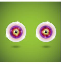 Realistic eyeballs vector