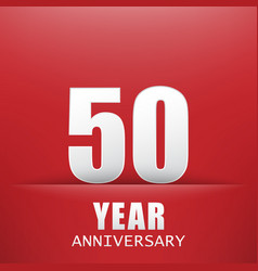 red backgroundfifty years anniversary vector image