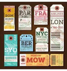 Retro Baggage Tags vector