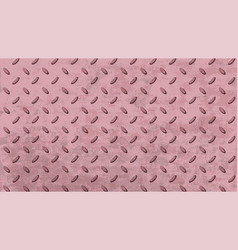 rough pink metal plate with geometric pattern vector image