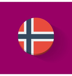 Round icon with flag of Norway vector