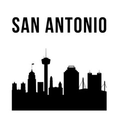 san antonio city simple silhouette vector image
