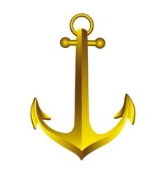 Sea anchor icon image vector