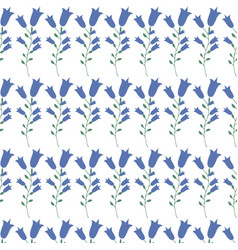 seamless pattern with abstract spring flowers vector image