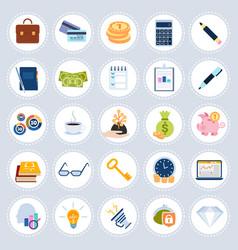 set different business icons concept symbols vector image