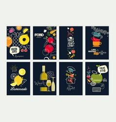 set menu and brochure design templates vector image