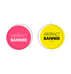 Set trendy geometric banners promo labels vector